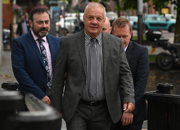 Raymond McCord attends Belfast High Court on Friday, as he launches legal bid to force Boris Johnson to reverse Parliament suspension plan. Pic Colm Lenaghan/Pacemaker
