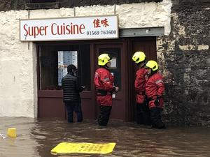 Flooding in Stonehaven (Martin Anderson/PA)