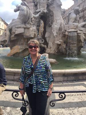 Ellvena Graham at the Trevi Fountain in Rome