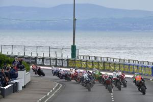 Mandatory Credit: Rowland White/PressEye North West 200: Saturday Race Day Race: NW 200 Superbike Date: 17th May 2014 Caption: Superbikes get away