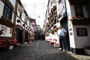 Belfast publican Willie Jack pictured a his pub, The Duke of York, in Belfast's Cathedral Quarter. Photo by Kelvin Boyes  / Press Eye.