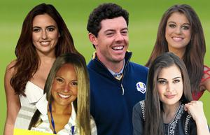 Rory McIlroy has been linked with a number of beautiful women including (clockwise from top left) Nadia Forde, Sasha Gale, Shashi Naidoo and Erica Stoll