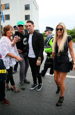 Footballer Robbie Keene and his wife Claudine Keene arriving for the U2 concert at Croke Park in Dublin. PRESS ASSOCIATION Photo. Picture date: Saturday July 22, 2017. Photo credit should read: Brian Lawless/PA Wire