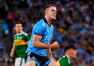 Brian Fenton of Dublin celebrates winning a free during the GAA Football All-Ireland Senior Championship Final Replay. Credit: Seb Daly/Sportsfile