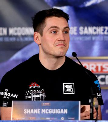 Trainer Shane McGuigan during a press conference at the Radisson Blu Hotel, Manchester.Simon Cooper/PA Wire.