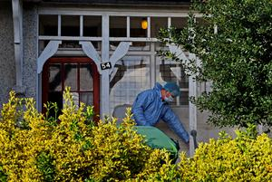 A police forensic officer leaves the house in Erith, Kent, which is being searched by police officers in relation to the missing former Eastenders actress Sian Blake. Gareth Fuller/PA Wire