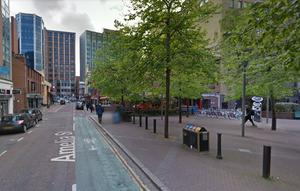 Police said the attacker left with a woman in an taxi shortly after the incident.