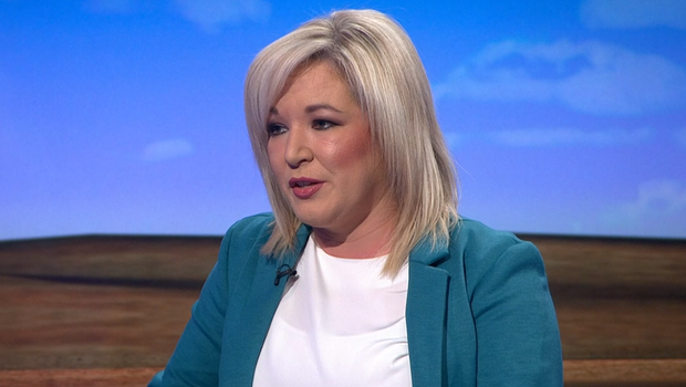 """Michelle O'Neill also questioned how much """"new money"""" was going to Northern Ireland. Credit: BBC"""