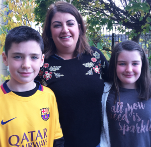 Lives rebuilt: Bernie Murray with twins Amy and Liam