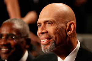 LAS VEGAS, NV - OCTOBER 19:  Former NBA champion Kareem Abdul-Jabbar attends the third U.S. presidential debate at the Thomas & Mack Center on October 19, 2016 in Las Vegas, Nevada. Tonight is the final debate ahead of Election Day on November 8.  (Photo by Drew Angerer/Getty Images)