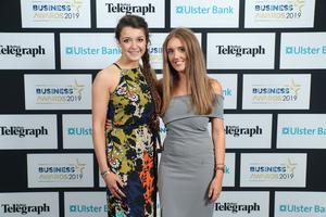 Press Eye - Belfast - Northern Ireland - 2nd May 2019 -   Caitlin Topping and Laura Scott pictured at the Belfast Telegraph Business Awards in association with Ulster Bank at the Crowne Plaza Hotel, Belfast. Photo by Kelvin Boyes / Press Eye.