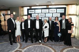 Press Eye - Belfast - Northern Ireland - 2nd May 2019 -   Staff from AJC Group pictured at the Belfast Telegraph Business Awards in association with Ulster Bank at the Crowne Plaza Hotel, Belfast. Photo by Kelvin Boyes / Press Eye.