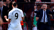 Zlat'll do: Ibrahimovic shares a moment with his new boss.