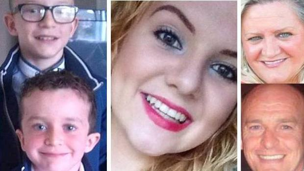"""Evan McGrotty, aged eight, died alongside his father Sean McGrotty (49), 12-year-old brother Mark, grandmother Ruth Daniels, 59, and her 14-year-old daughter, Jodie Lee Daniels, when their SUV sank after sliding off a """"slippery as ice"""" slipway in Buncrana in March 2016."""
