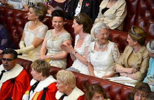 Ladies sit in the House of Lords before the State Opening of Parliament in London. PRESS ASSOCIATION Photo. Picture date: Wednesday May 8, 2013. See PA story POLITICS Speech. Photo credit should read: Toby Melville/PA Wire