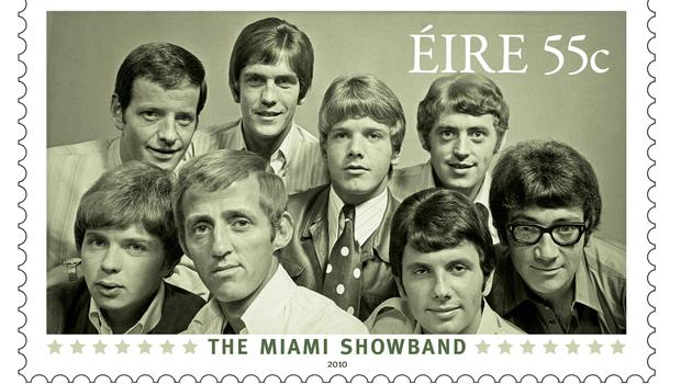 A stamp commemorating the Miami Showband (An Post/PA)