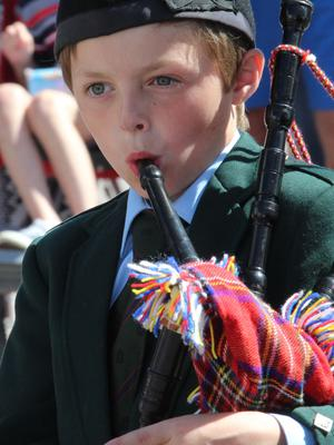 COLERAINE Piping his way through Coleraine Twelfth.PICTURE MARK JAMIESON.