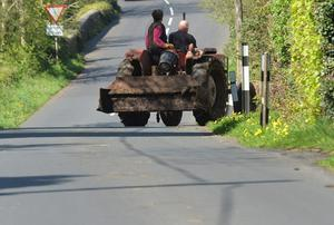 PACEMAKER BELFAST  08/05/2016 Farmers from Crumlin in Co Antrim take a drive in the Sunshine on Sunday during the nice weather. PHOTO PACEMAKER
