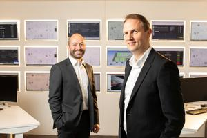 Pictured launching the Deloitte Technology Fast 50 Awards at Catagen's premises in Titanic Quarter are Dr Andrew Woods, chief executive of Catagen, and Peter Allen, partner at Deloitte