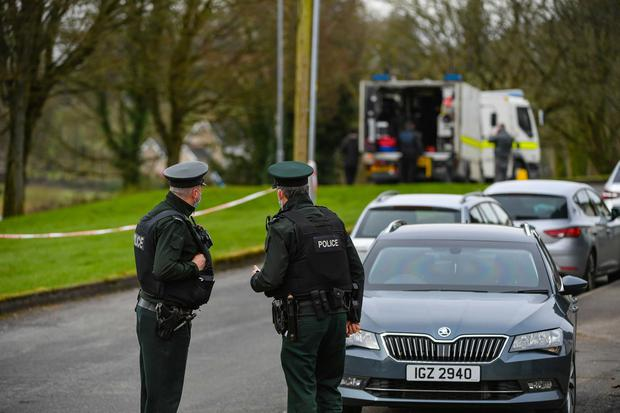 PACEMAKER BELFAST  17/03/2021 A PSNI bomb disposal team attended a suspect device at Cornagrade, Enniskillen around lunchtime on St Patrick's Day.  Picture: Ronan McGrade/Pacemaker Press