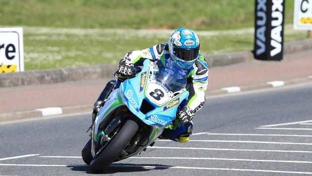 Pacemaker Belfast 12-5-18 Vauxhall International North West 200 -  superbike practice session Dean Harrison (Silicone Engineering Racing Kawasaki) during today's  superbike practice session at the Vauxhall International North West 200 in Portrush.  Photo by David Maginnis/Pacemaker Press