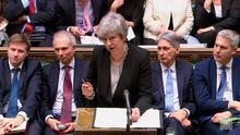 Prime Minister Theresa May during the debate in the House of Commons in London on January 29, 2019.