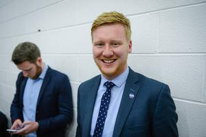 Daniel McCrossan, SDLP candidate for West Tyrone at the election count in Omagh. Picture: Ronan McGrade/Pacemaker Press