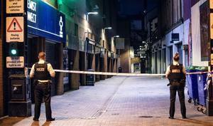 Police at the scene of an incident in the Pottingers Entry area of Belfast on May 31st 2020 (Photo by Kevin Scott for Belfast Telegraph)