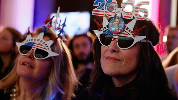 People attend a gathering at the Maison de la Radio, the French public service radio broadcaster Radio France's headquarters, to follow the results of the final day of the US presidential election, on November 8, 2016 in Paris. / AFP PHOTO / Thomas SAMSONTHOMAS SAMSON/AFP/Getty Images