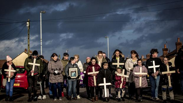 A remembrance march for the 48th anniversary of Bloody Sunday takes place in the Creggan area Derry on February 2nd 2020 (Photo by Kevin Scott for Belfast Telegraph)