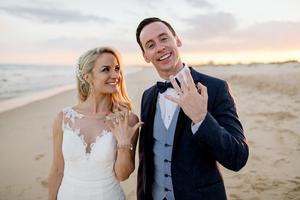 Holly Hamilton and Connor Phillips on their wedding day in 2018