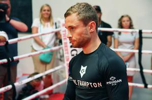 Press Eye - Belfast -  Northern Ireland - 15th July 2015 - Boxer Carl Frampton (center) is pictured during an open training session in El Paso, Texas befor  defending his IBF World title against Alejandro Gonzalez Jr on Saturday evening.  Picture by Jorge Salgado / Press Eye