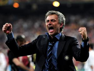 FILE - JUNE 02, 2013:  Jose Mourinho has been confirmed as Chelsea FC manager, returning to the club for a second term in charge, having left the club in 2007. MADRID, SPAIN - MAY 22:  Head coach Jose Mourinho of Inter Milan celebrates his team's victory at the end of during the UEFA Champions League Final match between FC Bayern Muenchen and Inter Milan at the Estadio Santiago Bernabeu on May 22, 2010 in Madrid, Spain.  (Photo by Shaun Botterill/Getty Images)