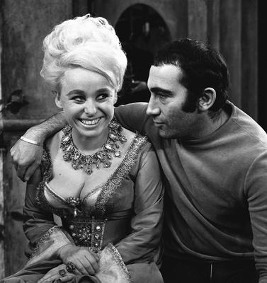 With composer Lionel Bart during dress rehearsals for Twang! in 1965 (PA)