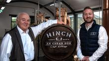 Dr Terry Cross OBE and Aaron Flaherty, Hinch Distillery