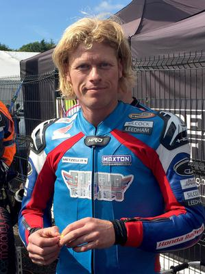 PACEMAKER, BELFAST, 10/8/2017: Gavin Lupton who was seriously injured in a crash during the Dundrod 150 National race at the Ulster Grand Prix on Thursday.