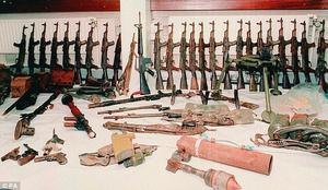 Gaddafi supplied the IRA with a huge arsenal of weapons
