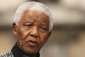 File photo dated 29/8/2007 of former South African President Nelson Mandela who was admitted to hospital in Pretoria in the early hours of Saturday after the recurrence of a long-standing lung infection