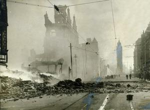 WORLD WAR II: BELFAST AIR RAIDS.HIGH STREET. 4/5 May 1941. High Street after being blitzed. AR 76.