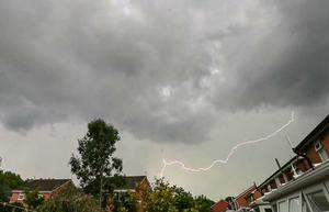 Screengrab taken from video of lightning strikes above Liverpool on Tuesday evening (Peter Byrne/PA)