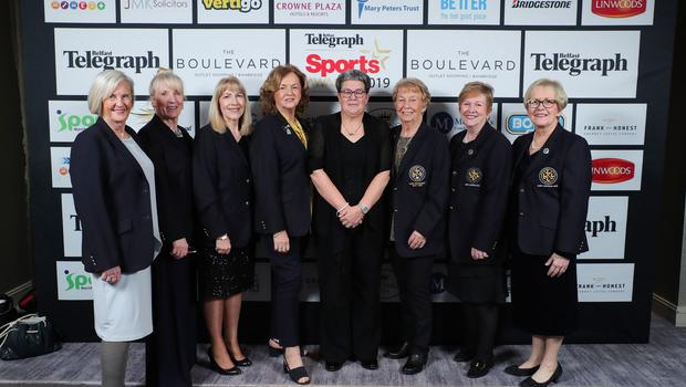 Press Eye - Belfast - Northern Ireland - 20th January  2020   Cushendall Ladies Golf Club pictured at the 2019 Belfast Telegraph Sport Awards at the Crowne Plaza Hotel in Belfast.  Photo by Kelvin Boyes / Press Eye.
