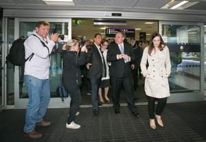 EDINBURGH, SCOTLAND - SEPTEMBER 15:  First Minister Alex Salmond leaves Edinburgh International Airport following a photocall in the arrival's hall on September 15, 2014 in Edinburgh, Scotland. With the campaigning for the independence referendum entering into the final few days, the latest opinion polls have suggested the outcome of the vote is still too close to call.  (Photo by Matt Cardy/Getty Images)
