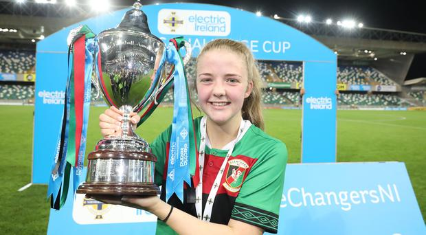 Emma McMaster scored the winning goal for Glentoran in the Irish Cup final and has now been called up to the Northern Ireland senior squad.