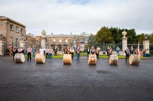 As part of their 12th of July celebrations, Hillsborough District LOL No 19 had lambeg drummers playing at three venues in the town – the Castle, the War Memorial and the Orange Hall. Pic: Graham Baalham-Curry