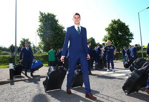Northern Ireland's Paddy McNair pictured as they leave from George Best Belfast City Airport to take part in a training camp in Austria in advance of the 2016 Euros. Press Eye - Belfast -  Northern Ireland - 30th May 2016 - Photo by William Cherry