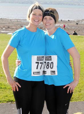 Northern Ireland-  23rd May 2013 Mandatory Credit - Photo-Jonathan Porter/Presseye.  Belfast telegraph Runher Coastal Challenge 10k from Seapark to Crawfordsburn Park in Co. Down.   Left to right.  Nicola McNeill and Fiona McToal from Larne.