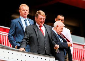 LIVERPOOL, ENGLAND - SEPTEMBER 09: Kenny Dalglish during the opening of  the new stand and facilities  at Anfield on September 9, 2016 in Liverpool, England. (Photo by Barrington Coombs/Getty Images)