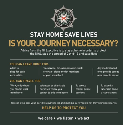 Police have issued guidelines for when people should travel.