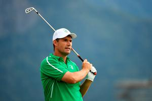 Padraig Harrington of Ireland plays his shot from the fourth tee during the first round of men's golf on Day 6 of the Rio 2016 Olympics at the Olympic Golf Course on August 12, 2016 in Rio de Janeiro, Brazil.  (Photo by Ross Kinnaird/Getty Images)