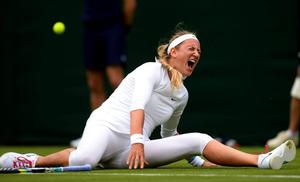File photo dated 24/6/2013 of Belarus' Victoria Azarenka. PRESS ASSOCIATION Photo. Issue date: Wednesday June 26, 2013. Women's second seed Victoria Azarenka has withdrawn from Wimbledon, tournament officials said today. See PA story WIMBLEDON Azarenka. Photo credit should read: Dominic Lipinski/PA Wire
